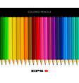 set of colored pencils with drop shadow vector image