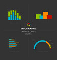 set of flat design infographic charts and graphs 2 vector image vector image
