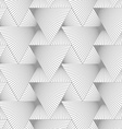 Slim gray hatched big and small triangles vector image vector image