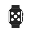 smartwatch bold black silhouette icon isolated vector image vector image