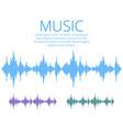 sound waves music digital equalizer audio vector image vector image
