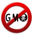 Stop GMO vector image