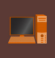 technology gadget in flat design computer vector image vector image