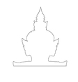 Thai Giant Path on the white background vector image vector image