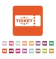 The ticket icon Ducket and seat tkt symbol Flat vector image vector image