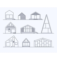 Tiny houses linear 1 vector image vector image