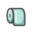 toilet paper lavatory icon cartoon vector image vector image