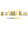 Touristic Summer Vacation Symbols Set By Five In vector image