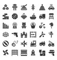 toy for children and baicon set solid icon vector image vector image