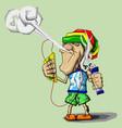 vaper reggae vector image