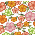 watercolor background of malva flower with stem vector image vector image