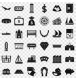 wealth icons set simple style vector image vector image