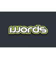 words word text logo design green blue white vector image vector image