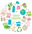 zero waste concept with different vector image vector image