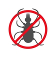 Tick insect silhouette Mite deer big ticks icon vector image