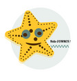 cartoon sea star cartoon vector image