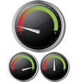 fuel gauges vector image