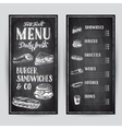 hand drawn with fast food vector image