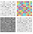 100 war icons set variant vector image vector image