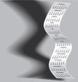 2014 Tall Wavy Calendar Grayscale vector image vector image
