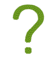 A Four Leaf Clove of Question Mark vector image