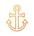 anchor nautical beach transport recreation symbol vector image