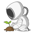 astronaut and plant vector image vector image