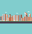 background geometry flat city landscape 02 vector image
