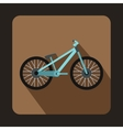 Bike icon flat style vector image vector image