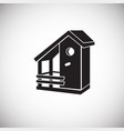 bird house on white background vector image