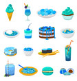 blue food bluish cake or cupcake with vector image vector image