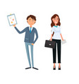 business plan of man and woman workers teamwork