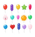 Cartoon balloons festive entertainment bright