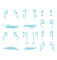 cartoon tears water splash raining drops and vector image
