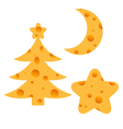 Christmas Cheese vector image vector image