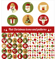 Christmas design icons set vector image vector image