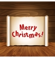 christmas postcard on a wooden background vector image