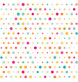 colorful dotted seamless pattern vector image