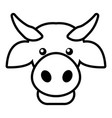 cow head icon outline style vector image vector image