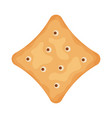 cracker chips square shape isolated on white vector image