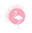 cute flamingo design vector image