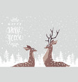 deer couple vector image vector image