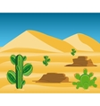 Desert with cactus vector image