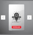 development idea bulb pencil scale glyph icon in vector image vector image