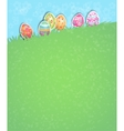 Easter eggs holiday card