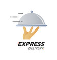 express delivery icon concept hand holding the vector image