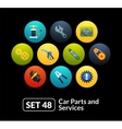 Flat icons set 48 - car parts and services vector image vector image
