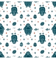 Funny seamless pattern with penguin and eggs vector image