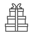 gift icon on white background m vector image vector image