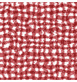 gingham carpet in red and white seamless pattern vector image